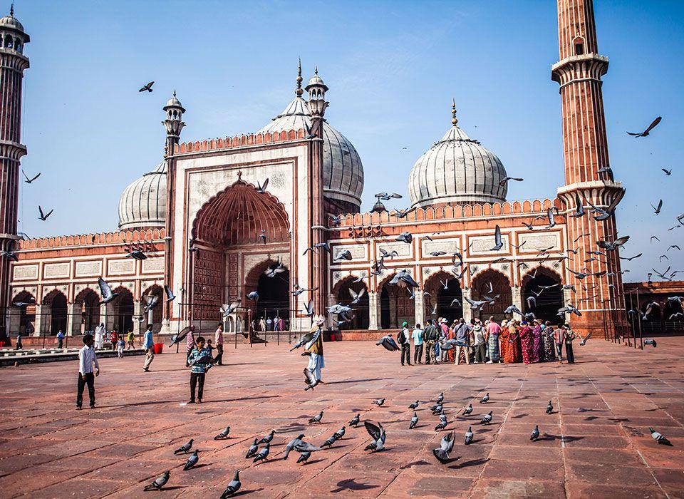 Indien: Jama Masjid Moschee - Dehli
