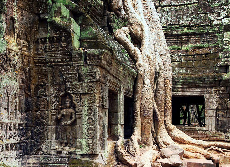 Laos: Angkor Wat Tempel