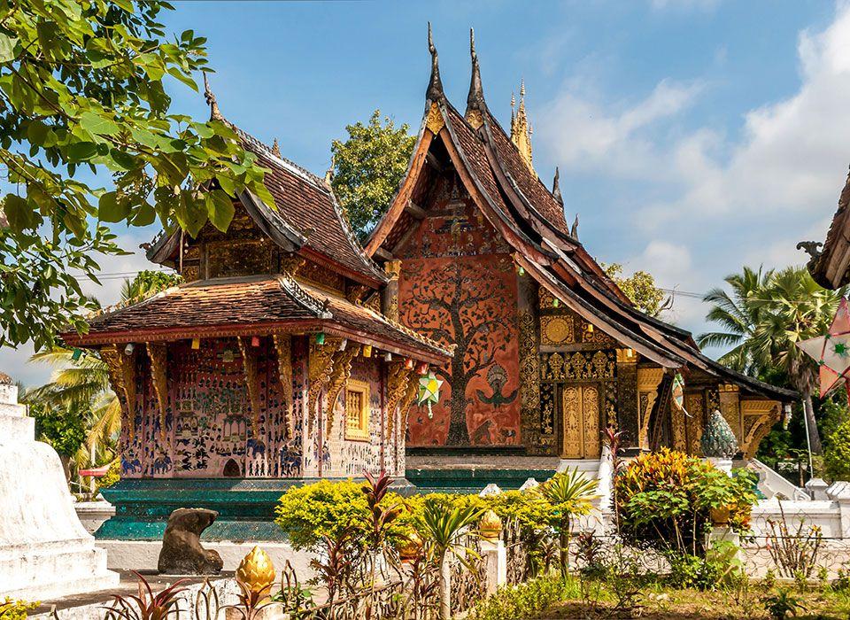 Laos: Luang Prabang Wat Xieng Thong Tempel