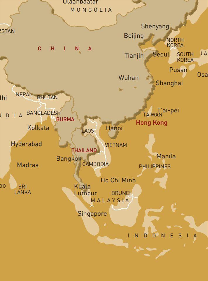 luxusreise-rundreise-china-myanmar-thailand-karte
