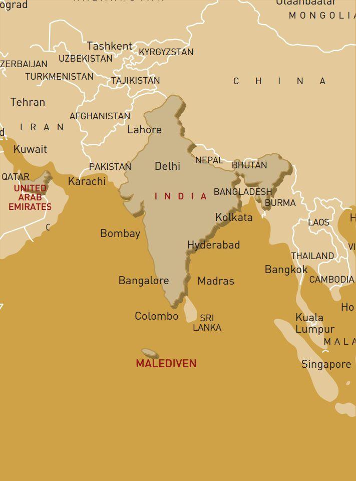 Luxusreise durch Dubai, Indien und auf die Malediven