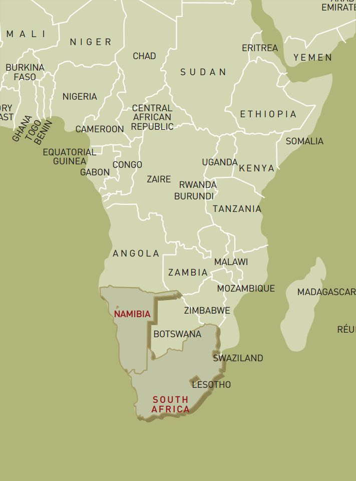 luxusreise-rundreise-namibia-suedafrika-karte