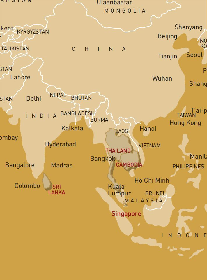 luxusreise-rundreise-thailand-kambodscha-singapur-sri-lanka-karte