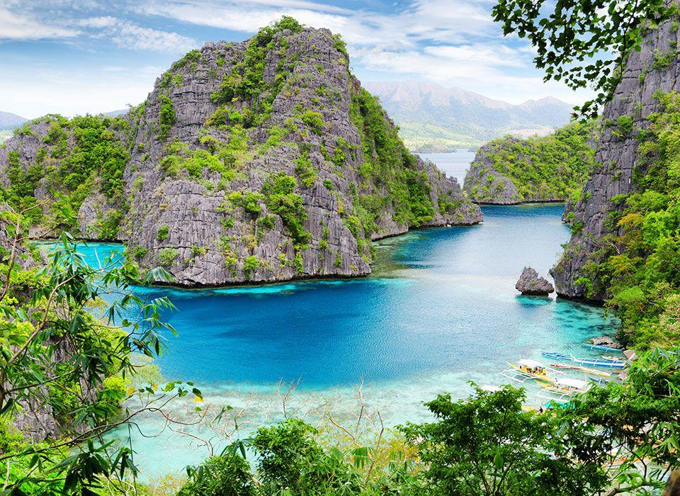 philippinen-flusslandschaft