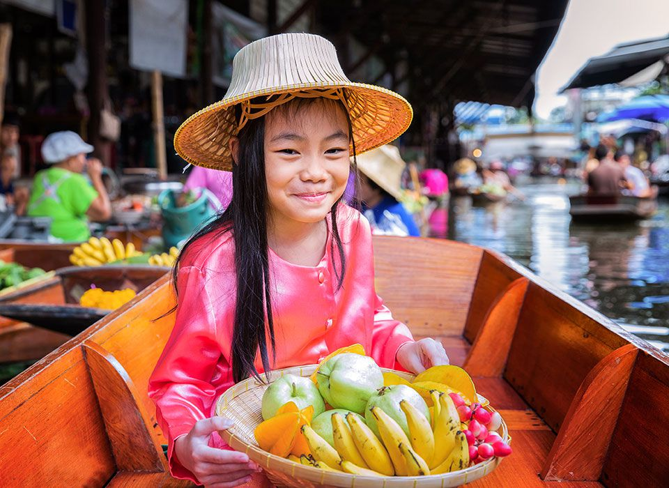 Thailand: Floating Market in Bangkok