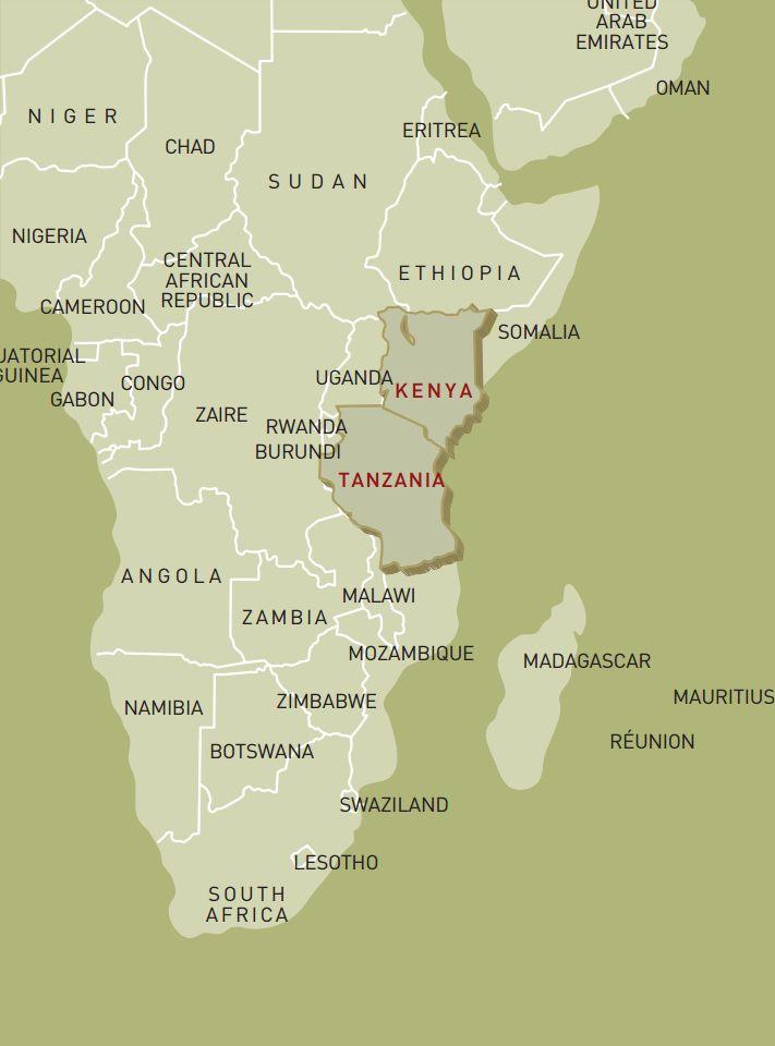 luxusreise-rundreise-kenia-tansania-karte