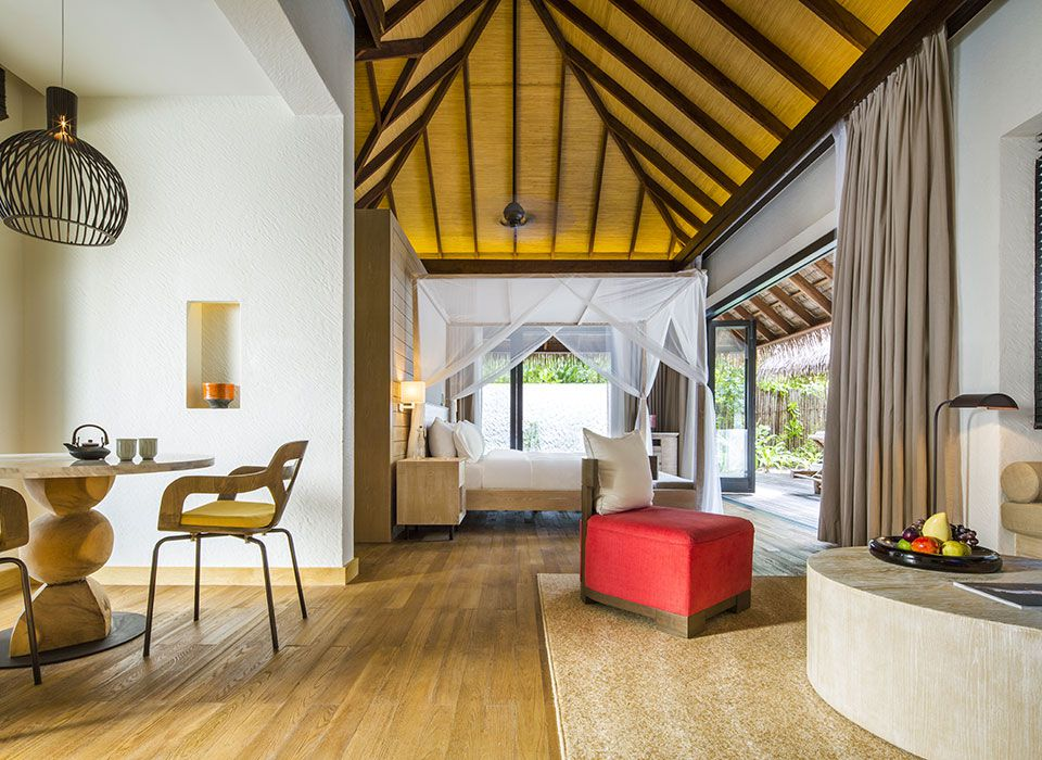 COMO Maalifushi - Malediven - Thaa Atoll - Beach Suite - Schlafzimmer