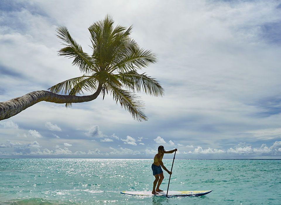 COMO Maalifushi - Malediven - Thaa Atoll - Stand up Paddling