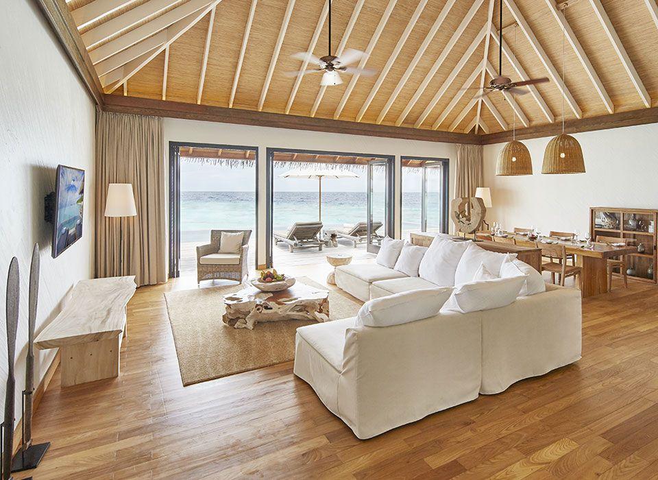 COMO Maalifushi - Malediven - Thaa Atoll - Water Villa - Wohnzimmer