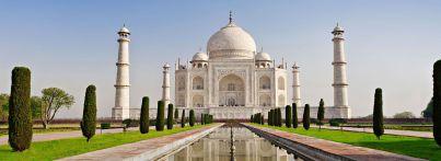 Das Taj Mahal in Uttar Pradesh, Agra, Indien