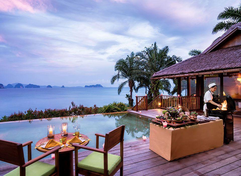 Sixs Senses Yao Noi - Thailand - Phang-Nga Bay - Barbecue in der eigenen Villa